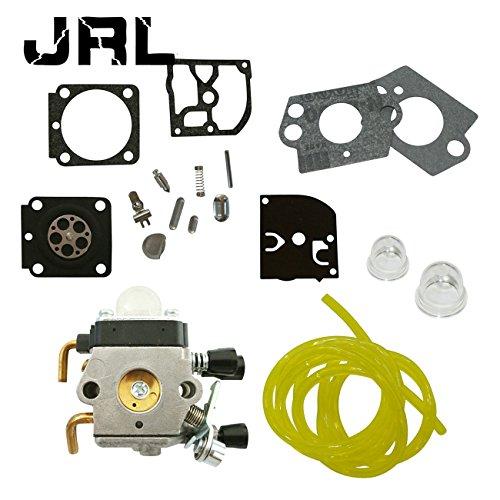 JRL Carburateur + RB-100 kit de réparation carburateur + Tuyau d'essence pour Coupe-Bordure STIHL FS38 FS45 Remplace ZAMA