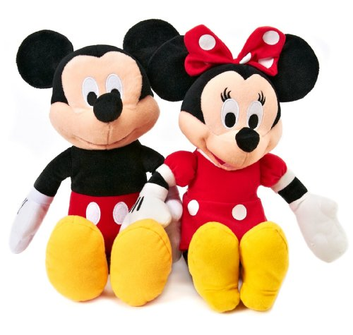 Disney Mickey and Minnie Plush Dolls (15')