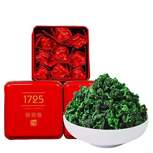 110g / 3.9oz Anxi Tie Guan Yin Oolong Tea Loose Leaf - Chinese Tea Leaves Tieguanyin Iron Goddess of Mercy - Fujian High Mountain Wu Long Green Tea Ti Kuan Yin