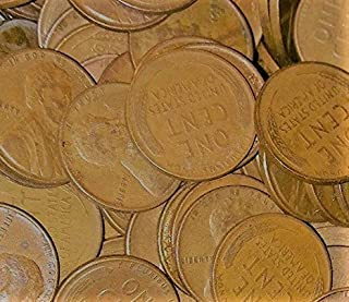1909 Various Mint Marks 1 - Pound Bag of Lincoln Wheat Pennies 1909-1958 Unsearched Grab Bag Good