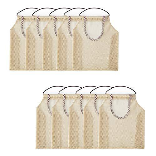 10 bolsas de malla reutilizables para frutas y verduras, bolsa de red respetuosa con el medio ambiente, bolsas de compras multifunción para frutas, verduras o basura.