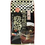 健茶館 国内産黒烏龍茶入り麦茶(24袋入)