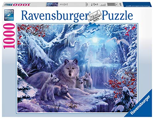 Ravensburger Puzzle 19704 - Winterwölfe - 1000 Teile Puzzle für Erwachsene und Kinder ab 14 Jahren, Puzzle mit Wölfen