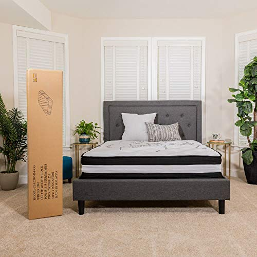 Flash Furniture Capri Comfortable Sleep 12 Inch Foam and Pocket Spring Mattress, King in a Box