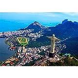 Rompecabezas de 2000 piezas para adultos - (Monte Cristo, Río de Janeiro) Rompecabezas - Rompecabezas divertido Juego educativo familiar Juguetes de regalo para adultos Adolescentes-70x100cm