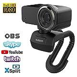 AUSDOM Webcam Pro Stream Caméra Computer 1080P 30fps Full HD avec Microphone Intégré, Caméra Web pour Chat Vidéo et...