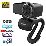 AUSDOM Webcam Pro Stream Caméra Computer 1080P 30fps Full HD avec Microphone...
