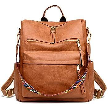 Women s Fashion Backpack Purses Multipurpose Design Convertible Satchel Handbags and Shoulder Bag PU Leather Travel bag
