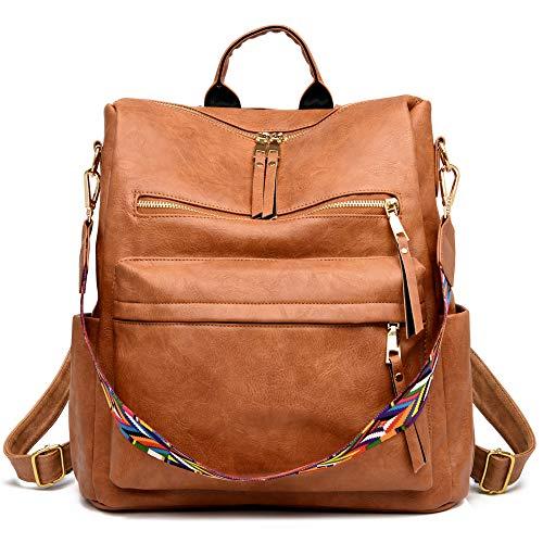 Women's Fashion Backpack Purse Multipurpose Design Convertible Satchel Handbags and Shoulder Bag PU Leather Travel bag