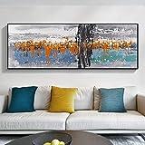 KWzEQ Pintura sin Marco Pintura al óleo Abstracta Moderna Arte de la Pared Cartel de la Lona Sala de Estar Familiar decoración del dormitorioAY7153 50X150cm
