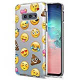 Eouine Samsung Galaxy S10e Case, Phone Case Transparent Clear with Pattern Ultra Slim Shockproof Soft Gel TPU Silicone Back Cover Bumper Skin for Samsung Galaxy S10e Smartphone (Emoji)