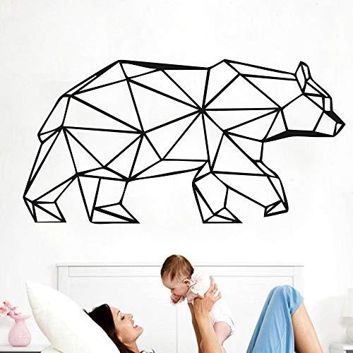 yaonuli Große geometrische Tier Vinyl Bär Wandtattoos Dekoration Persönlichkeit Wohnzimmer Wandbild 30x34cm