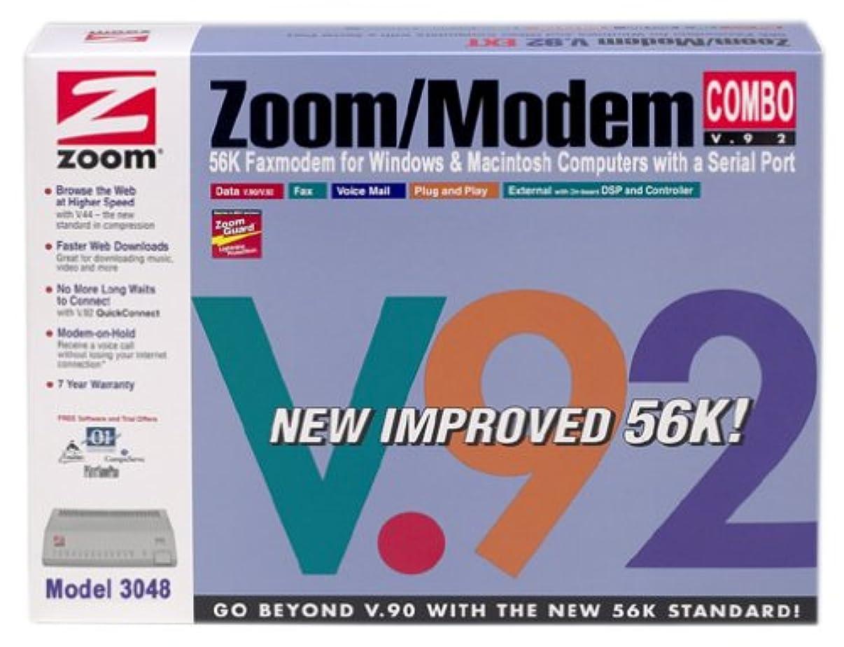 ZOOM Model 3048 External Serial 56K V.92 Fax Modem Combo (Windows PC/Mac)