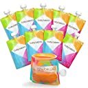 Baby Brezza Reusable Baby Food Storage Pouches, 10 Pack 7oz
