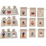 Vergissmeinnicht 54 sacchetti di iuta per Halloween, caramelle, sacchetti regalo, sacchetti con cordoncino, per Halloween, feste, feste