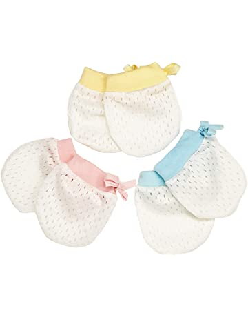 e3ba3468a1525 LUSAS ベビー用 ひっかき防止 手袋 3色セット かわいいおててを優しく包む