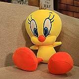 Wjfijz Piolín pájaro Amarillo Pato de Peluche de Juguete de Dibujos Animados Lindo Pato muñeco de Peluche Suave Animales muñecas Juguetes para niños Regalo de cumpleaños 30cm
