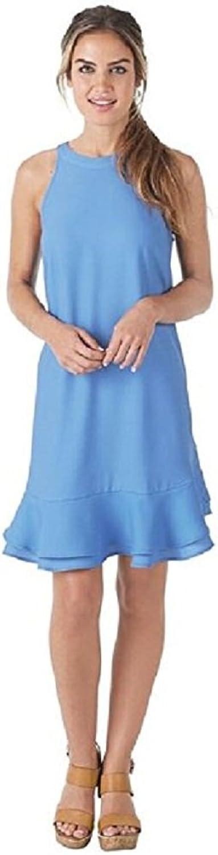 Mud Pie Lindsey Flounce Dress in Periwinkle bluee Apparel