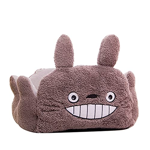 pawstrip Cute Pet Sofa, Comfortable Anti-Slip Removable and Washable My Neighbor Totoro Dog Cat Bed, Available in All Seasons, 14.6'x13.4', Gray