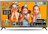 山善 40V型 1TB ハードディスク内蔵 録画テレビ ( PCモニター映像モード 裏番組録画 対応) QRC-40W2KHDD