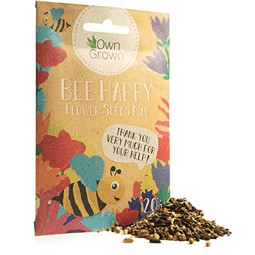 Bee Happy - Premium Meadow Flower Mixture, 10,000 Bee Friendly Flower Seeds for 10-20 sqm,...