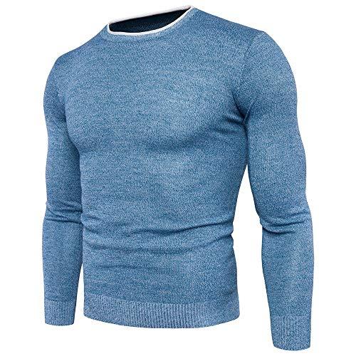 Hombres Knitwear Jumper Hombres Otoño Invierno Blusa Cuello Redondo Camiseta Manga Larga Casual Sudadera Cuello Redondo Suéter Para Hombres Slim Fit Chaqueta Ropa Negocio Sudadera Top