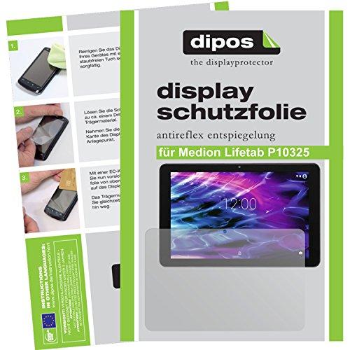 dipos I 2X Schutzfolie matt kompatibel mit Medion Lifetab P10325 Folie Displayschutzfolie