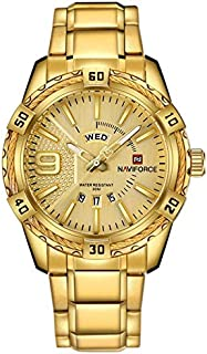 NaviForce NF9117N Men's Sport Stainless Steel Wrist Quartz Watch - Gold