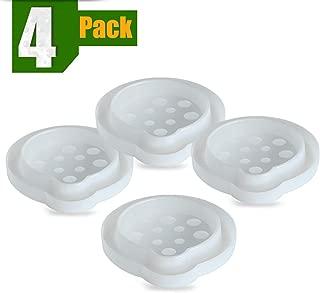 Aspectek Bed Bug Trap and Climb Up Insect Interceptor 4 Pack Set Pesticide Free Moat