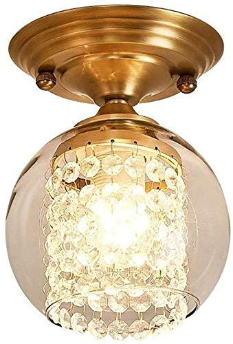 CNCDRS Cristales nórdicos creativos simples suspensiones de iluminación de hierro forjado de hierro dorado de metal de oro, chandelier, cristal, cristal, colgante, luz, lámpara de colgante incorporada
