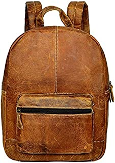 """Genuine Leather Backpack Business Travel Daypack Fits 15.6"""" Laptop"""