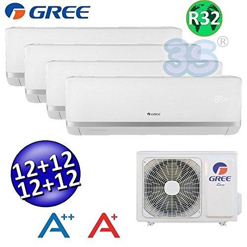 Climatizzatore inverter quadri split BORA 12+12+12+12 GREE refrigerante R32 classe A++/A+