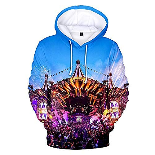MNMXWUnisex Hoody HD 3D Print Sweatshirt Pullover Kapuzenoberteile Jacke Langarm Stretch Colorblock Loose Hoodie Pullover Tomorrowland-XL