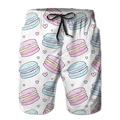 RROOT Sandwich Macarons Comfortabele Mannen Zomer Surfen Sneldrogende Zwembroek Shorts Strand Broek met Pocket