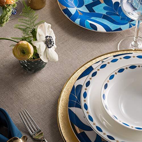 KARACA Fine Pearl Azur - Vajilla (62 piezas, para 12 personas)
