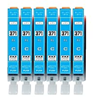 [ZAZ] BCI-371XL C シアン6本セット canon 互換インク ICチップ付 残量表示可能 〔 BCI-371XLC シアン 6本 〕 ( BCI-371XL+370XL/6MP or BCI-371XL+370XL/5MP 対応の 371XLシアン)( XLの大容量タイプ) 対応機種: PIXUS MG7730 / MG7730F / MG6930 / MG5730 / TS5030 / TS6030 / TS8030 / TS9030 対応 FFPパッケージ(371C)