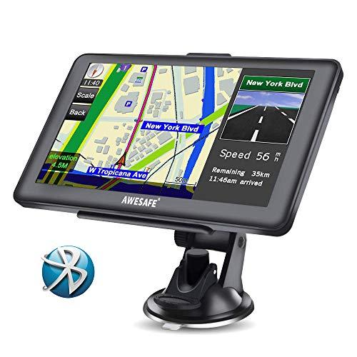 GPS Voiture Auto Europe 7 Pouces Ecran Tactile Bluetooth Cartographie Europe 52 à Vie Mise à Jour...