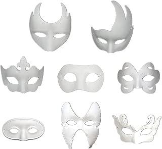 Ru S White Masks, DIY Unpainted Masquerade Masks/Pack of 8 (Color)