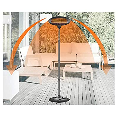 Vehpro Patio Heater 1500W Electric Heater Infrared Heater for Outdoor & Indoor 3 Heating Modes Easy Assemble