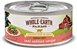 Whole Earth Farms Grain Free Wet Cat Food Real Salmon (Cast of 24)