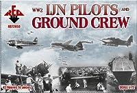 PLASTIC MODEL FIGURES WW2 IJN pilots and ground crew 42 FIGURES IN 14 POSES 1/72 RED BOX 72053