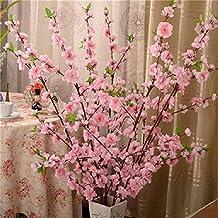 Künstliche Kirschblüten-Zweige, 65 cm, Seide, Pfirsichblü