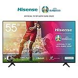 Hisense 55AE7000F 139 cm (55 Zoll) Fernseher (4K Ultra HD, HDR, Triple Tuner DVB-C/S/S2/T/T2, Smart-TV,Frameless, Bluetooth,Alexa)