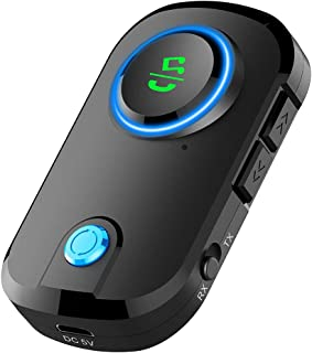 $27 » 2 in 1 Bluetooth Transmitter Receiver,MoreChioce Bluetooth 5.0 Receiver Transmitter Adapter Portable Wireless Bluetooth 3....