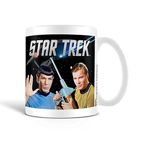 Star Trek Kirk y Spoke taza de cerámica