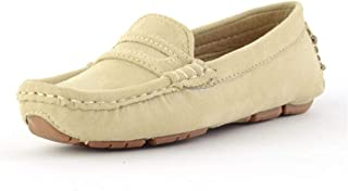 2018 Boy's Driving Loafer Girl's Suede Casual Microfiber Leather Penny Moccasins Kid's Boat Shoes