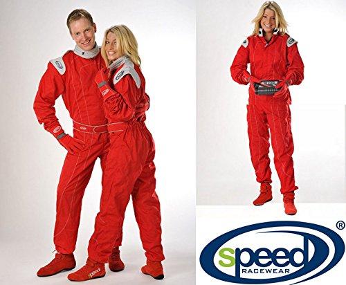 Speed Kartoverall Rot - Kindergrößen - Kinderoverall - Roter Kartanzug (104)
