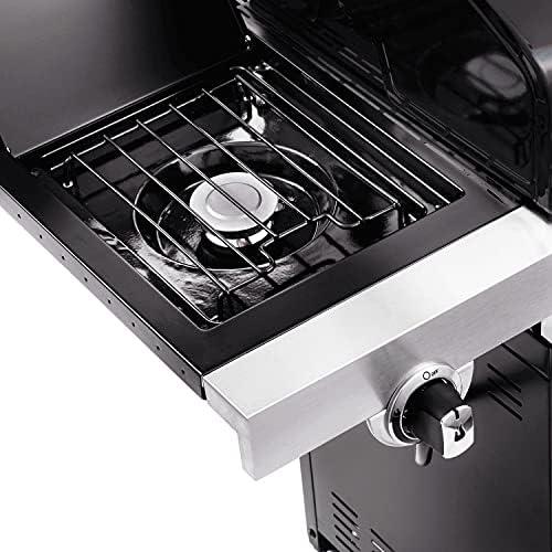 Char-Broil Performance Series 340B - Barbecue à gaz à 3 brûleurs avec système de cuisson TRU-Infrared, finition noire.