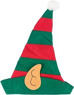 Amosfun Christmas Elf Hat Elf Costume Hat Xmas Elf Cap Dress Up Elf Favor for Party