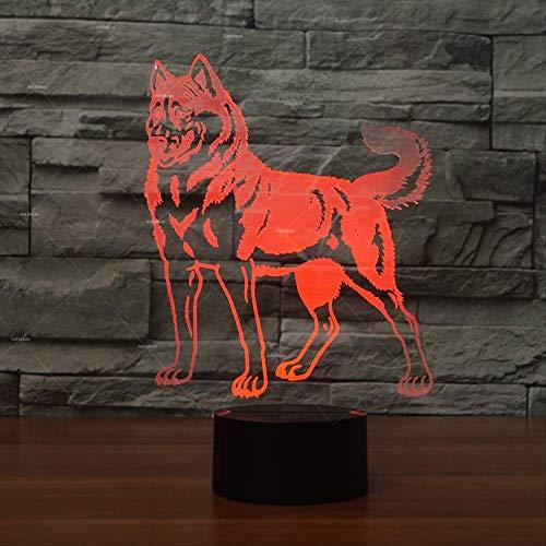 DFDLNL Animal Huskie Dog Designs Nachtlichter 7 Geschenkkörbe für Hunde Wohnkultur Personalisierte Geschenke für Hunde